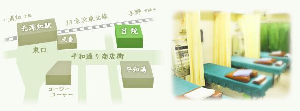 北浦和駅から、鈴木接骨院までのアクセス